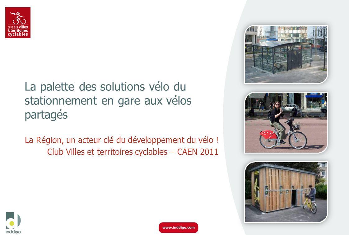 La palette des solutions vélo du stationnement en gare aux vélos partagés