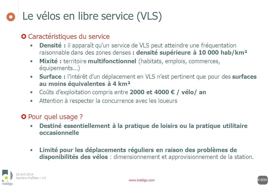 Le vélos en libre service (VLS)