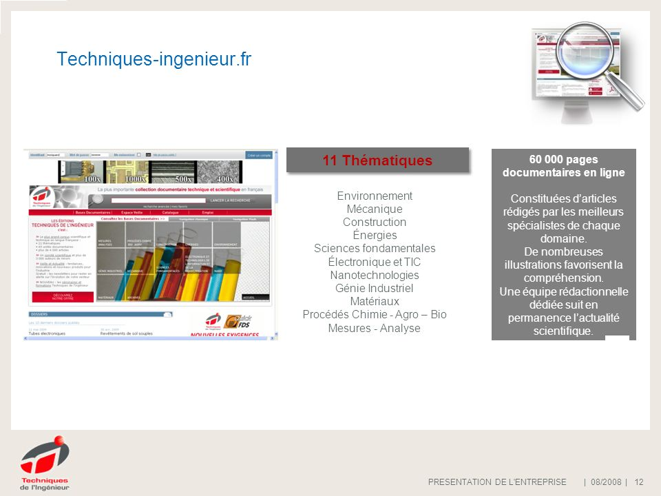 60 000 pages documentaires en ligne
