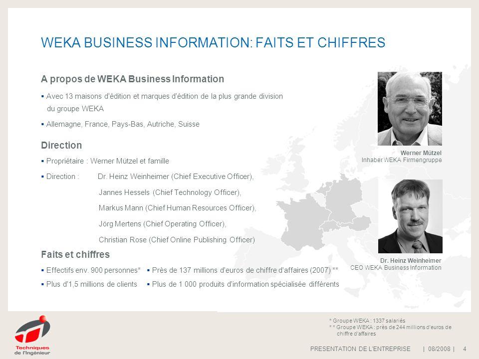 WEKA BUSINESS INFORMATION: FAITS ET CHIFFRES