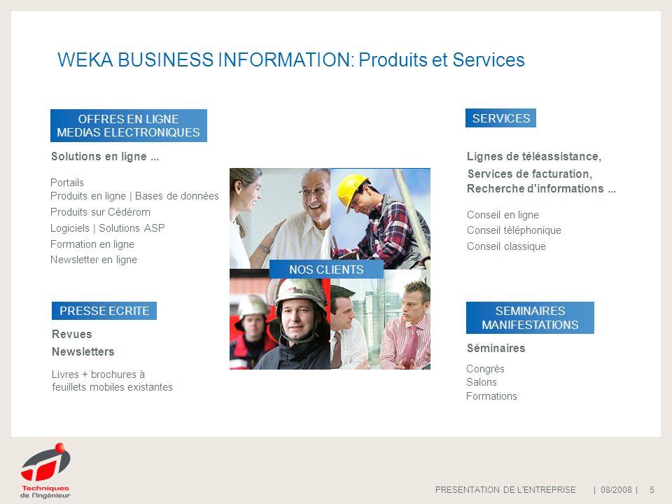 WEKA BUSINESS INFORMATION: Produits et Services