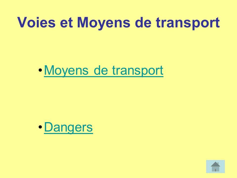 Voies et Moyens de transport