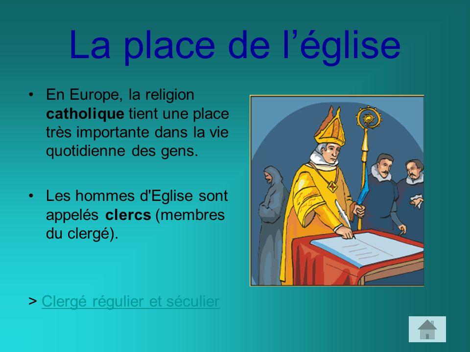 La place de l'église En Europe, la religion catholique tient une place très importante dans la vie quotidienne des gens.