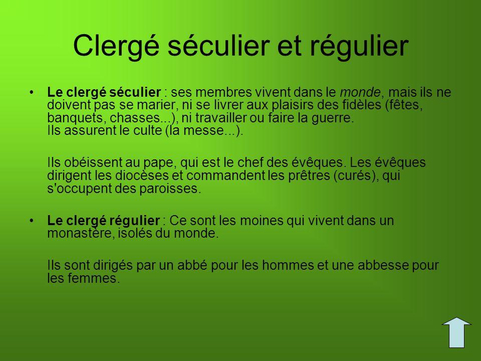 Clergé séculier et régulier