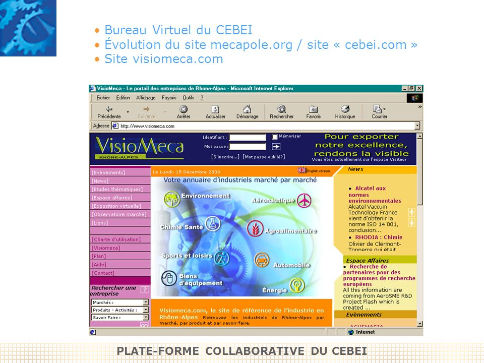 PLATE-FORME COLLABORATIVE DU CEBEI