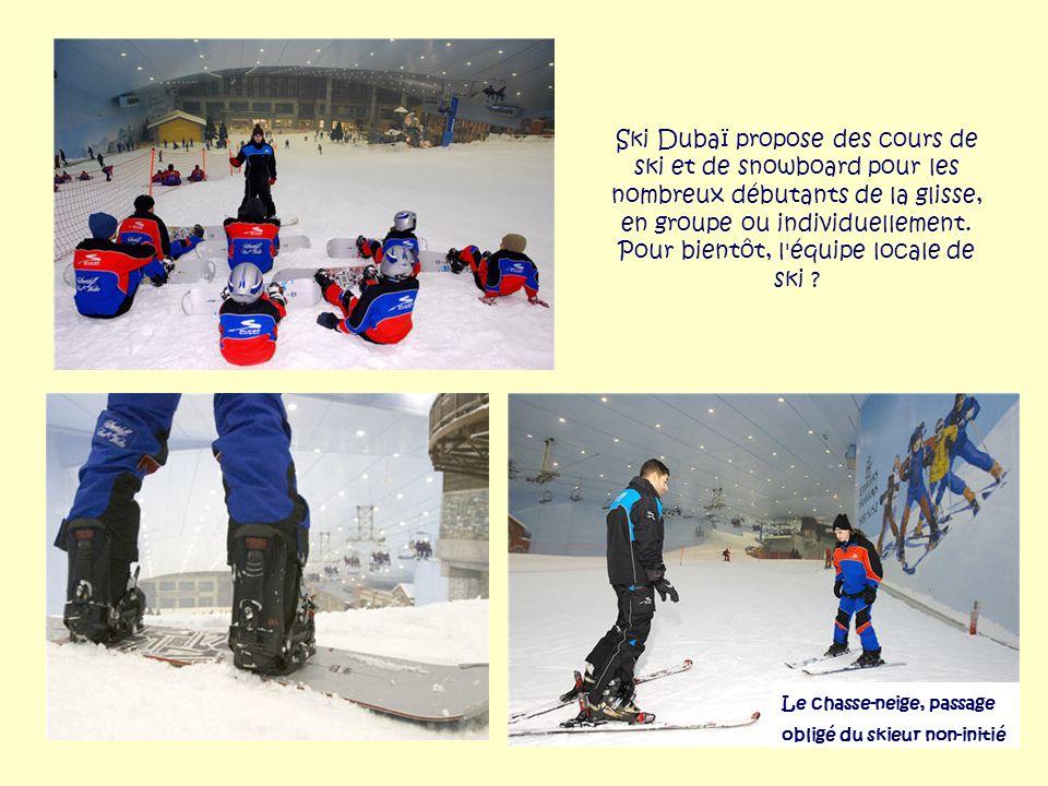Ski Dubaï propose des cours de ski et de snowboard pour les nombreux débutants de la glisse, en groupe ou individuellement. Pour bientôt, l équipe locale de ski