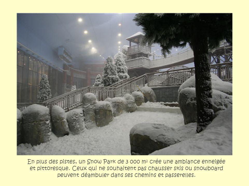 En plus des pistes, un Snow Park de 3 000 m² crée une ambiance enneigée et pittoresque.