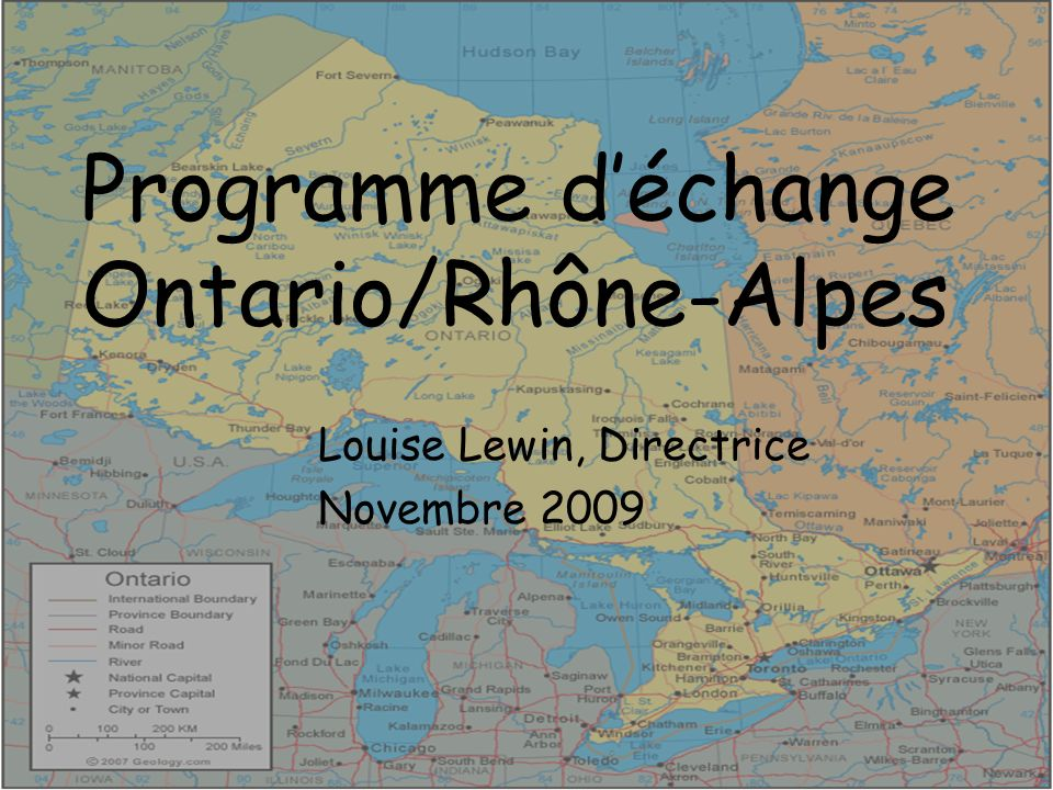 Programme d'échange Ontario/Rhône-Alpes
