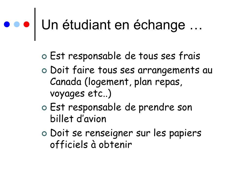 Un étudiant en échange …