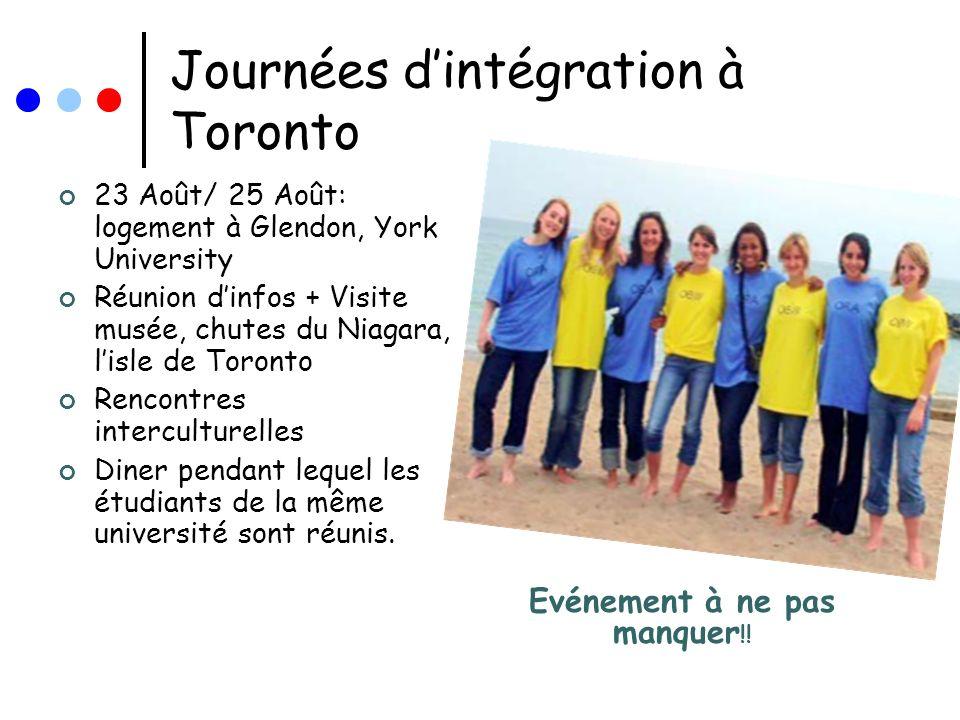 Journées d'intégration à Toronto