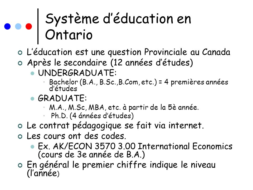 Système d'éducation en Ontario