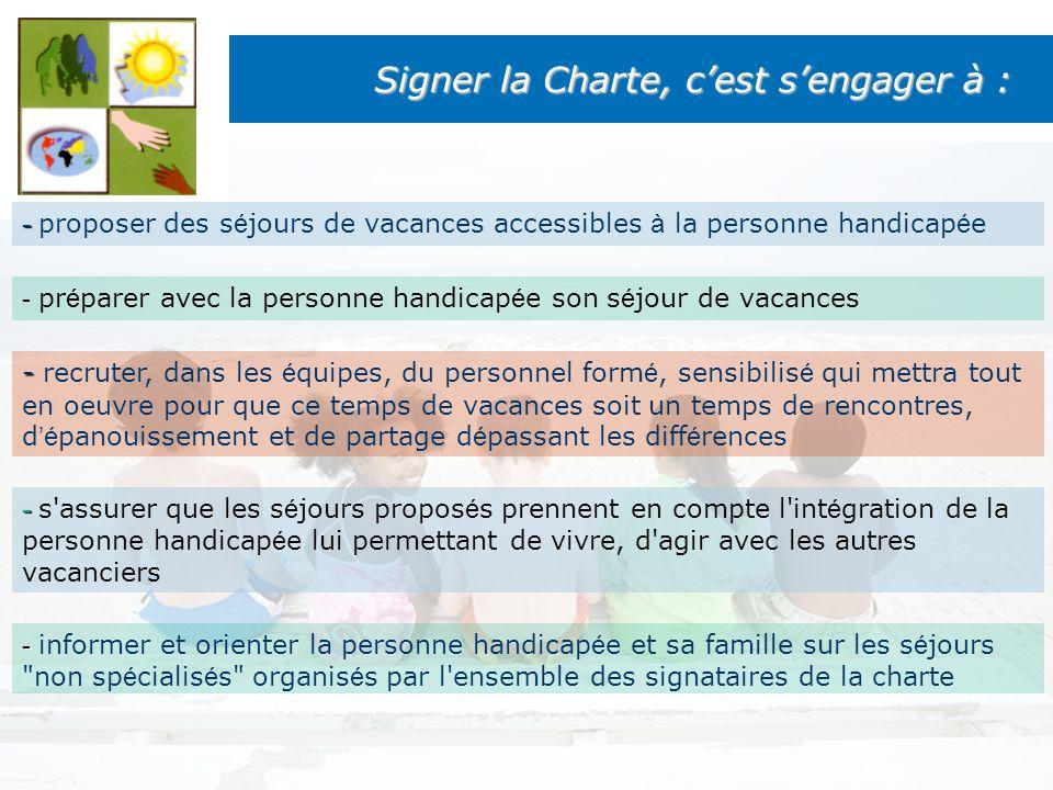 Signer la Charte, c'est s'engager à :