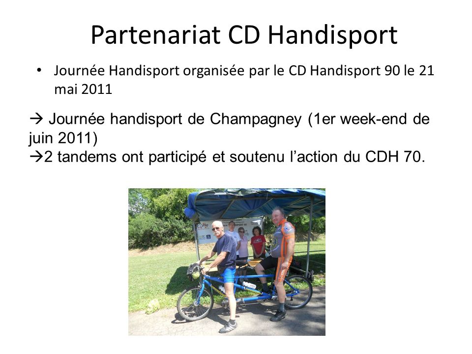 Partenariat CD Handisport