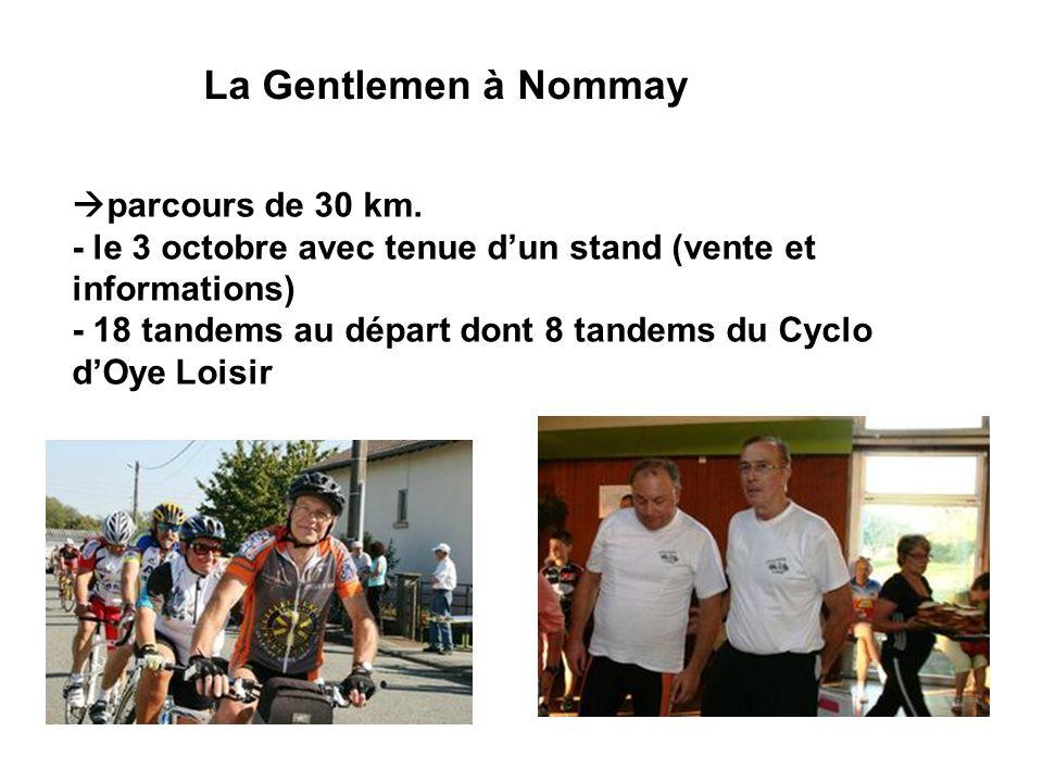 La Gentlemen à Nommay parcours de 30 km.