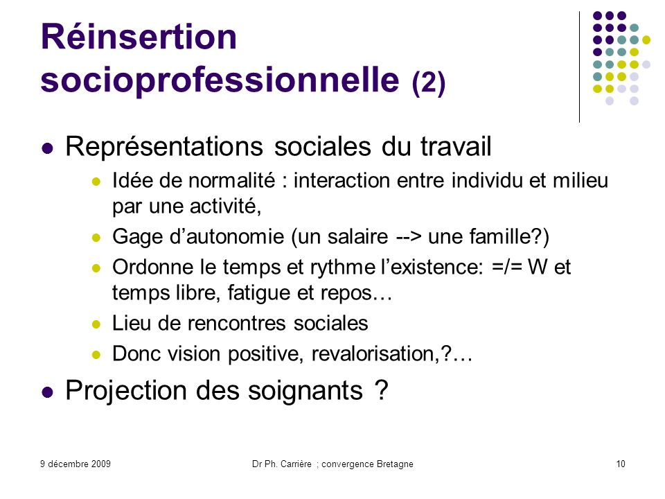 Réinsertion socioprofessionnelle (2)