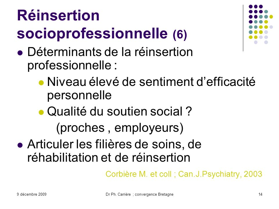 Réinsertion socioprofessionnelle (6)