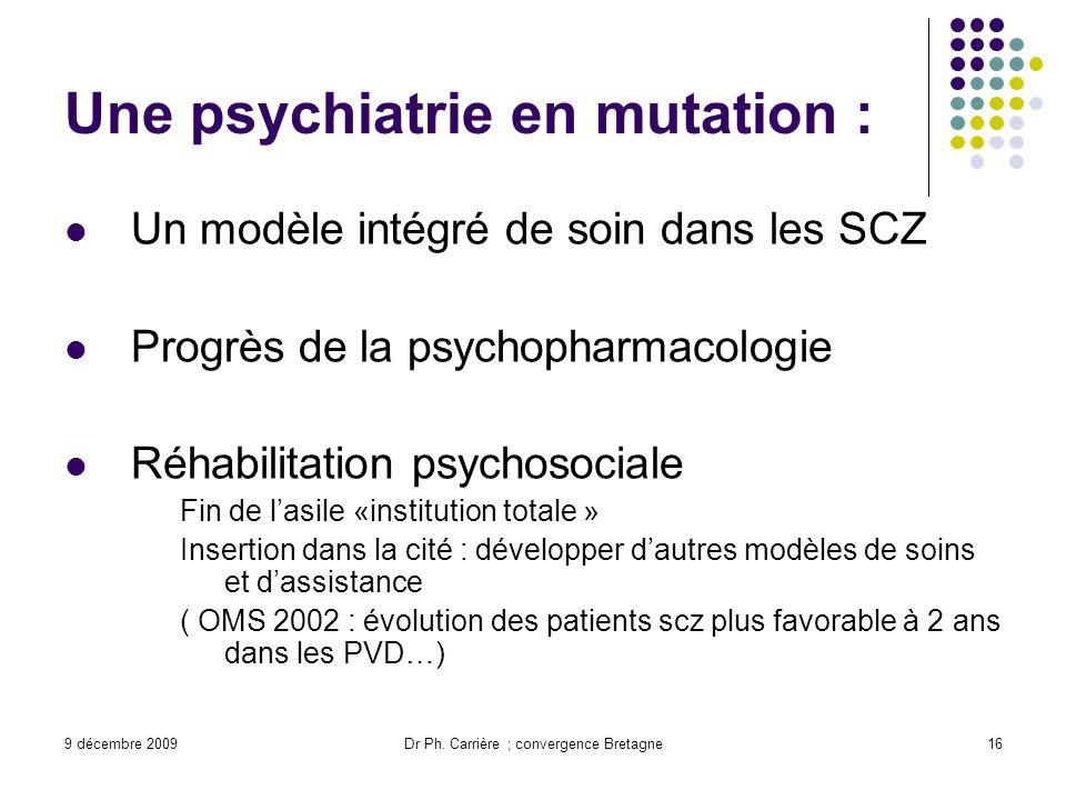 Une psychiatrie en mutation :