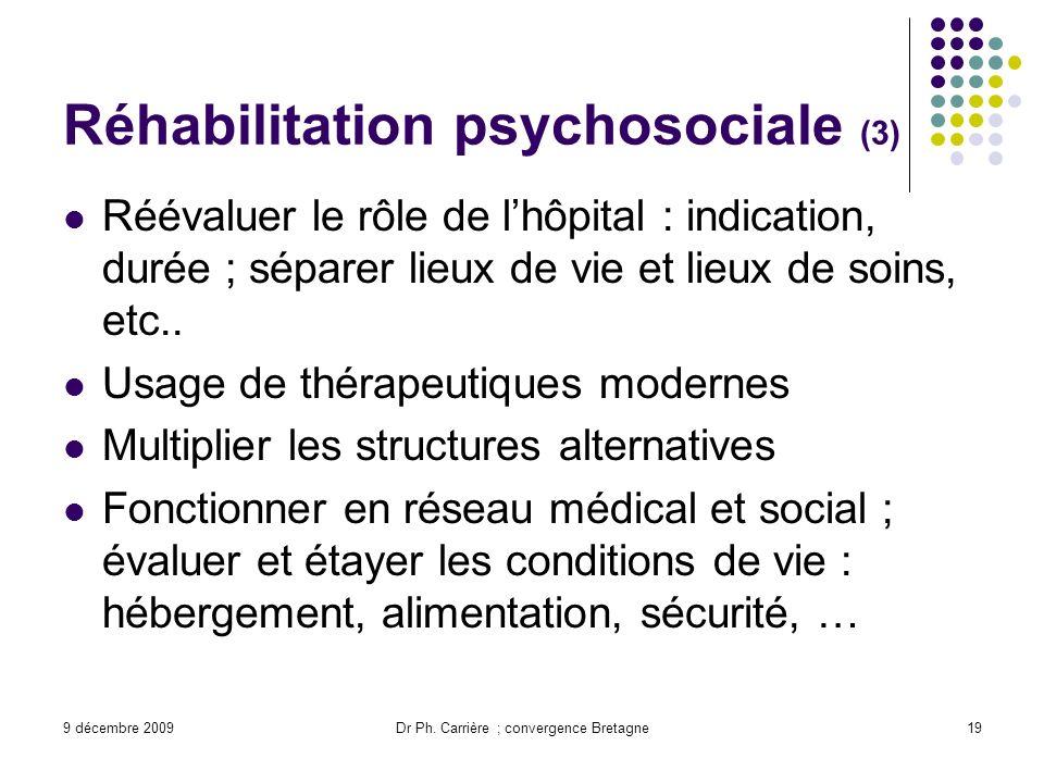 Réhabilitation psychosociale (3)