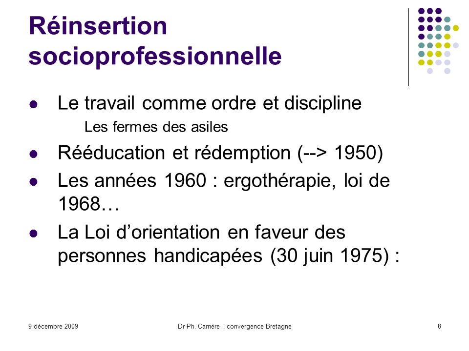 Réinsertion socioprofessionnelle