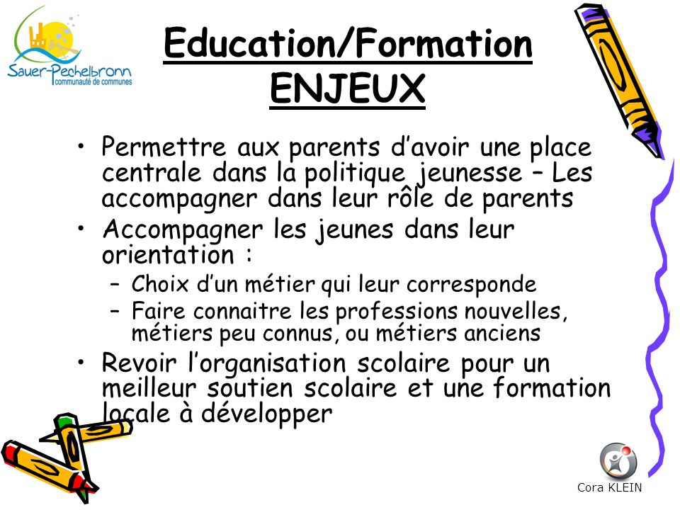Education/Formation ENJEUX