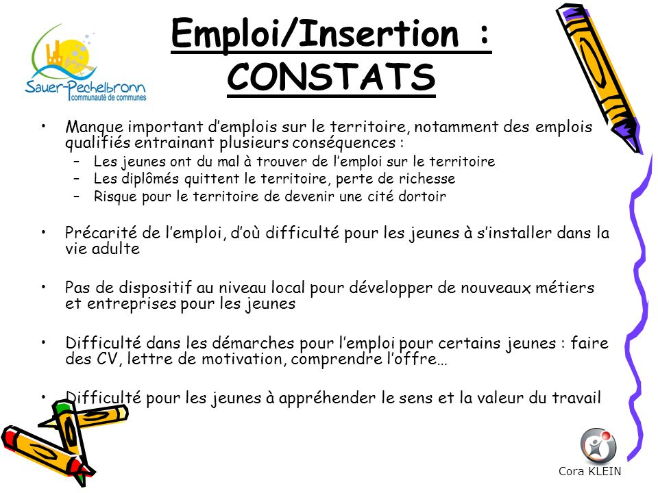 Emploi/Insertion : CONSTATS