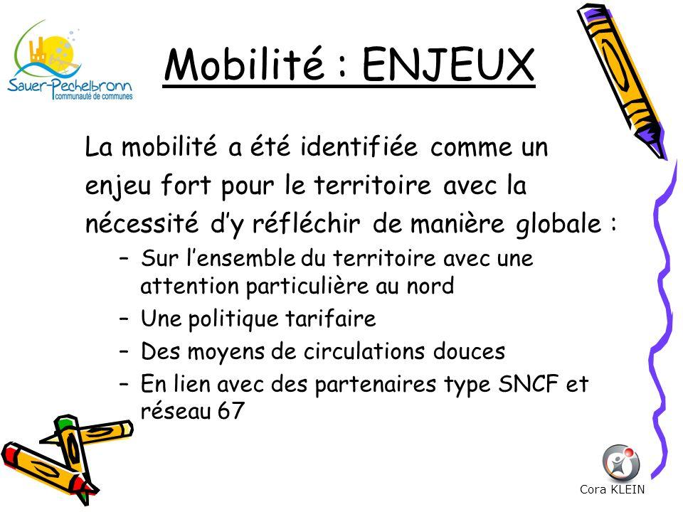 Mobilité : ENJEUX La mobilité a été identifiée comme un