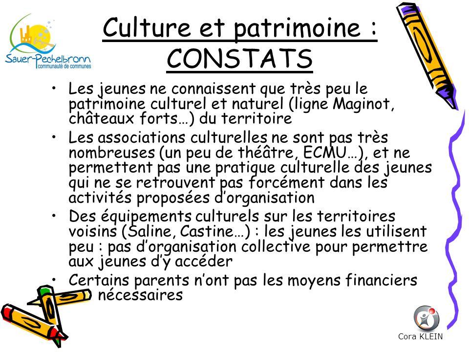 Culture et patrimoine : CONSTATS