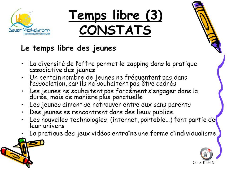 Temps libre (3) CONSTATS