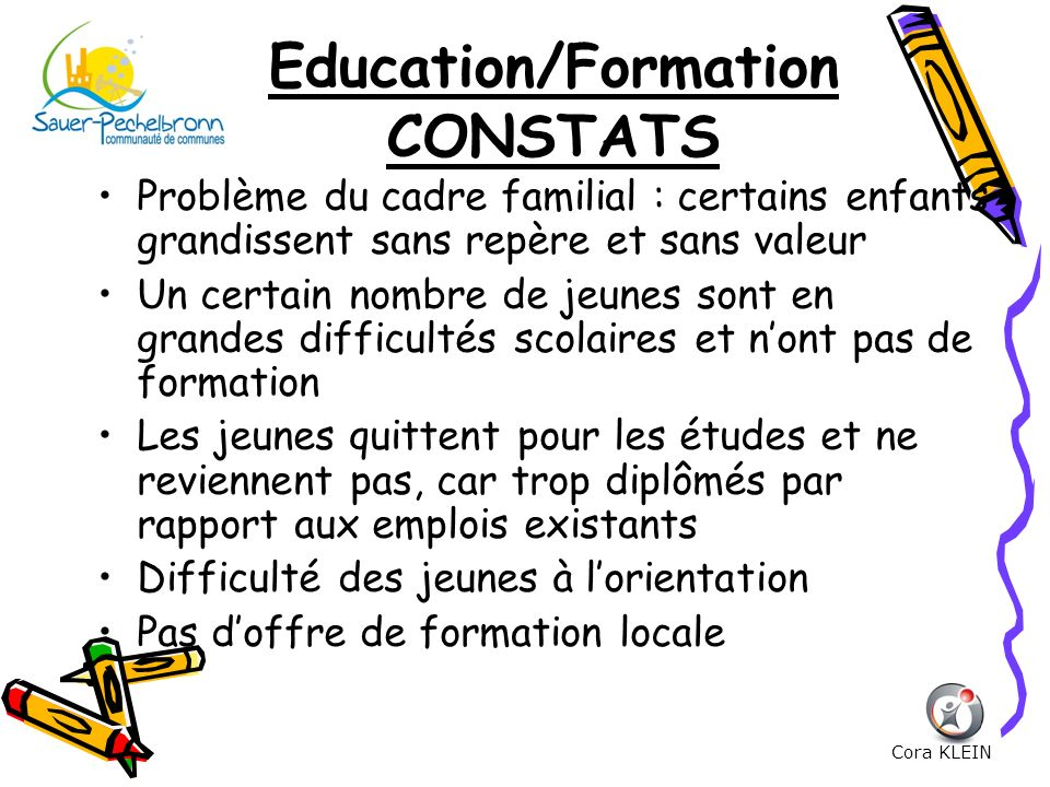Education/Formation CONSTATS