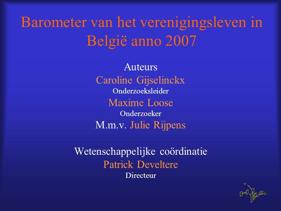 Barometer van het verenigingsleven in België anno 2007