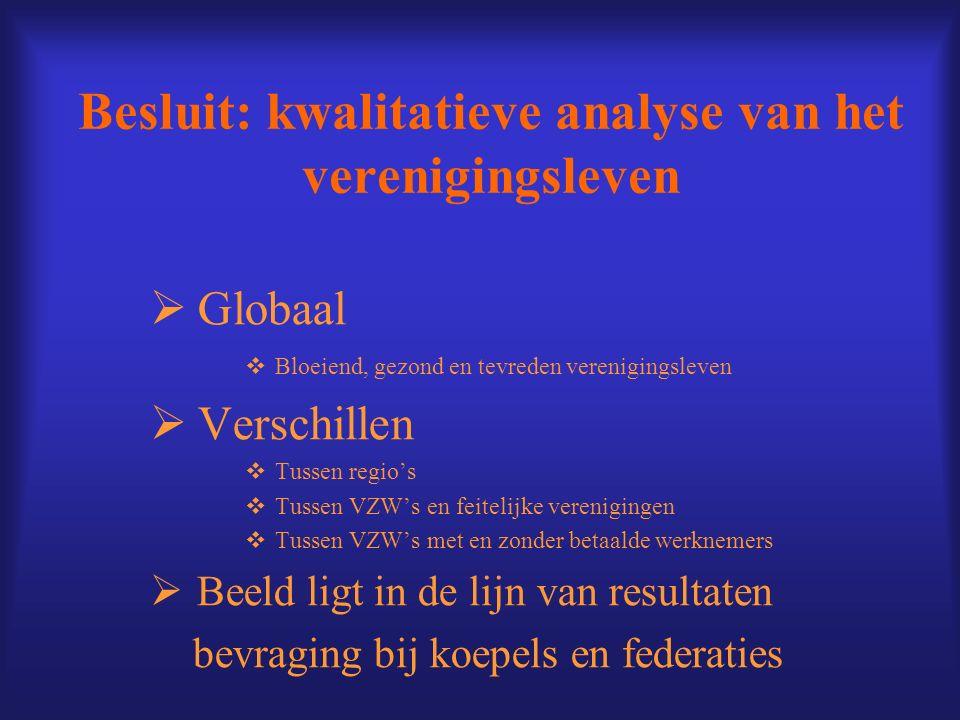 Besluit: kwalitatieve analyse van het verenigingsleven