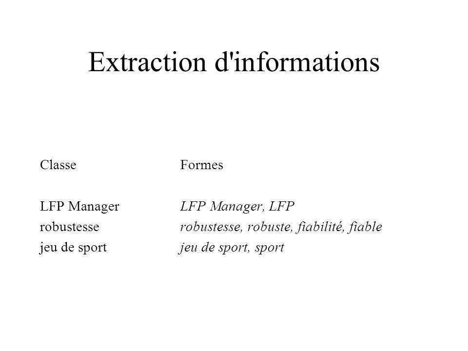 Extraction d informations