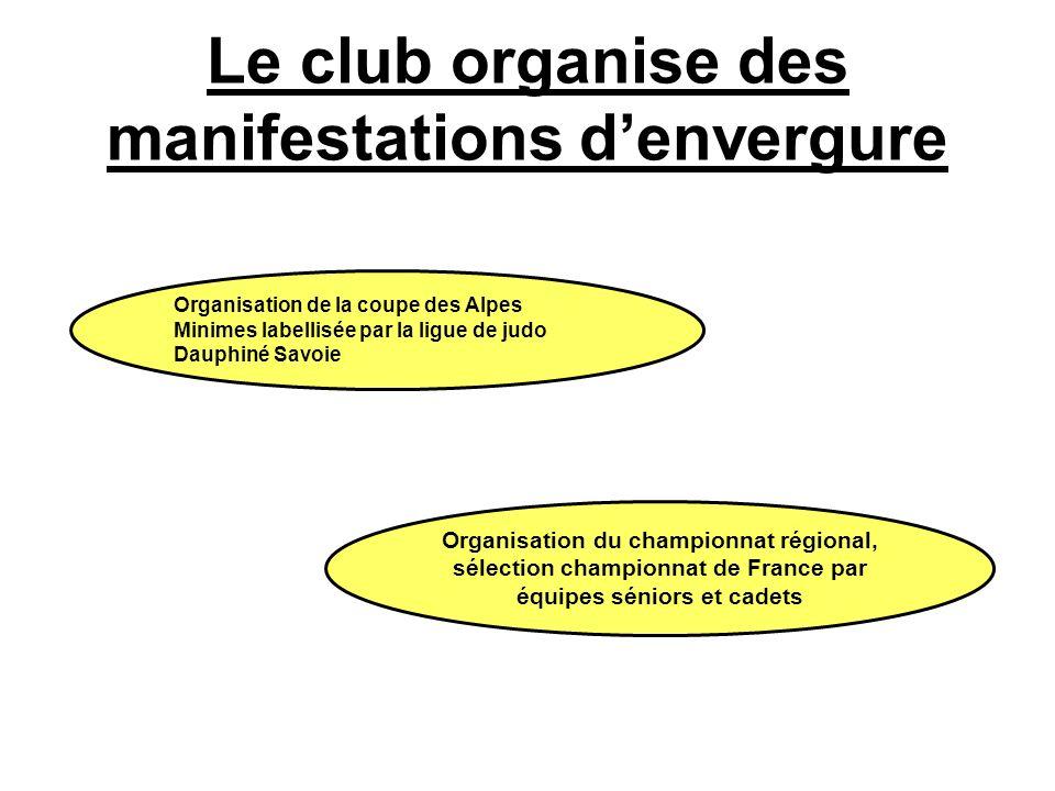 Le club organise des manifestations d'envergure