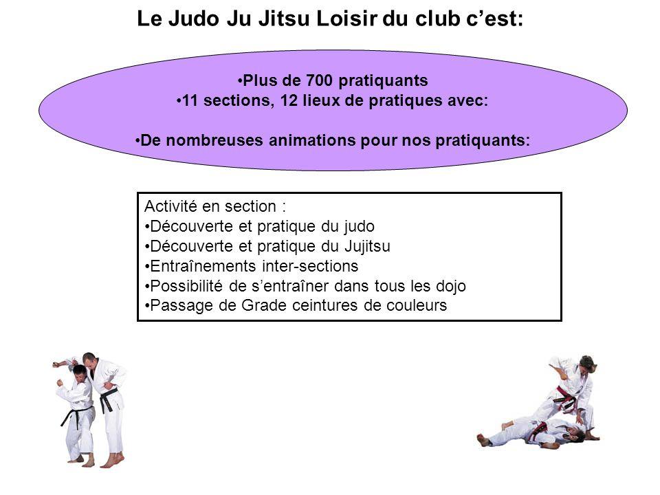 Le Judo Ju Jitsu Loisir du club c'est: