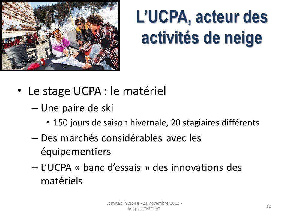 L'UCPA, acteur des activités de neige