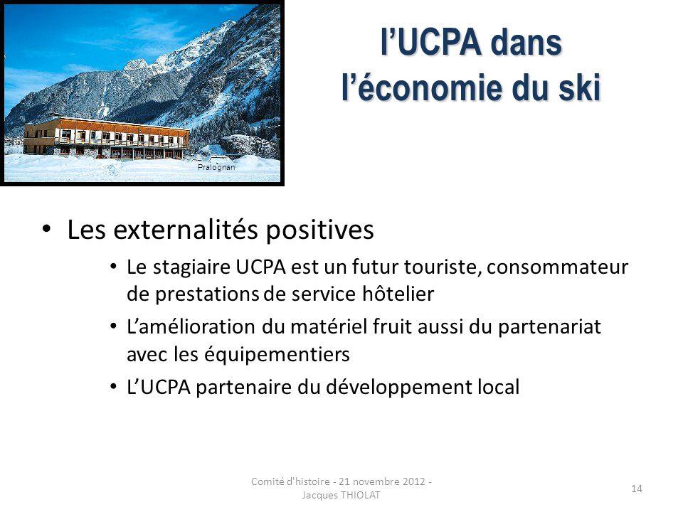 l'UCPA dans l'économie du ski