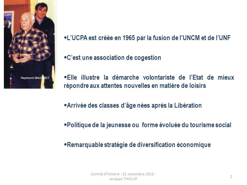 Comité d histoire - 21 novembre 2012 -Jacques THIOLAT