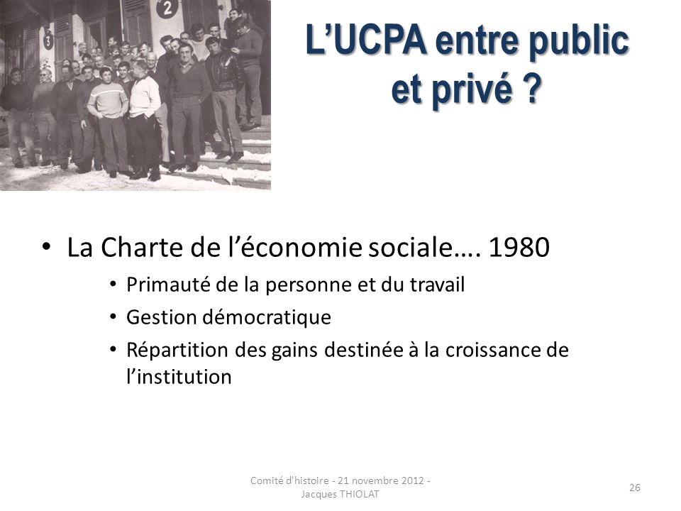 L'UCPA entre public et privé