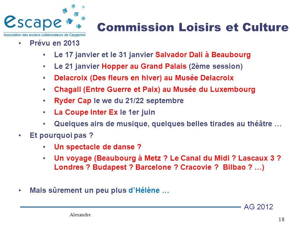 Commission Loisirs et Culture