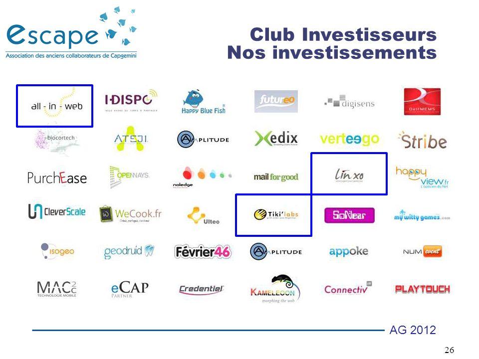 Club Investisseurs Nos investissements