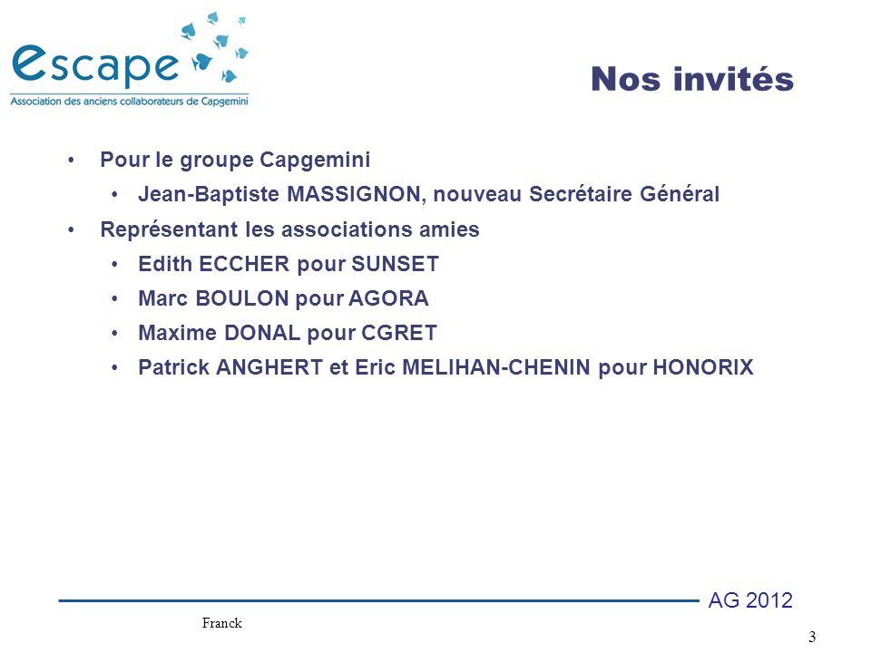 Nos invités Pour le groupe Capgemini