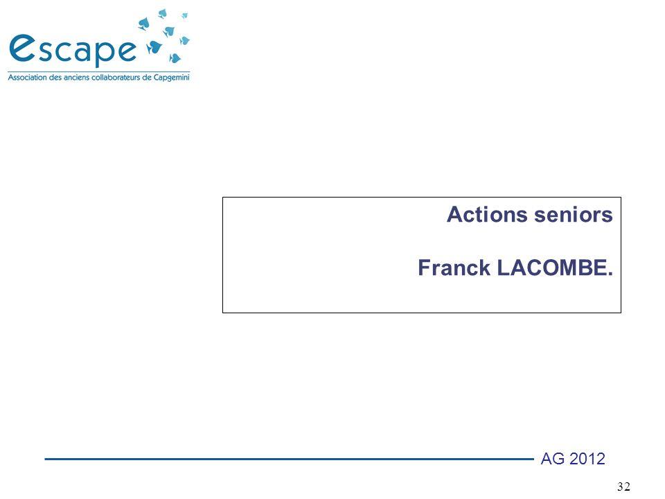 Actions seniors Franck LACOMBE.