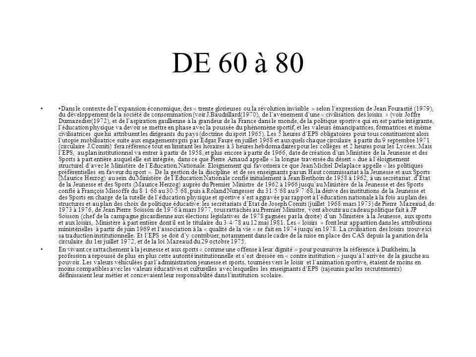 DE 60 à 80