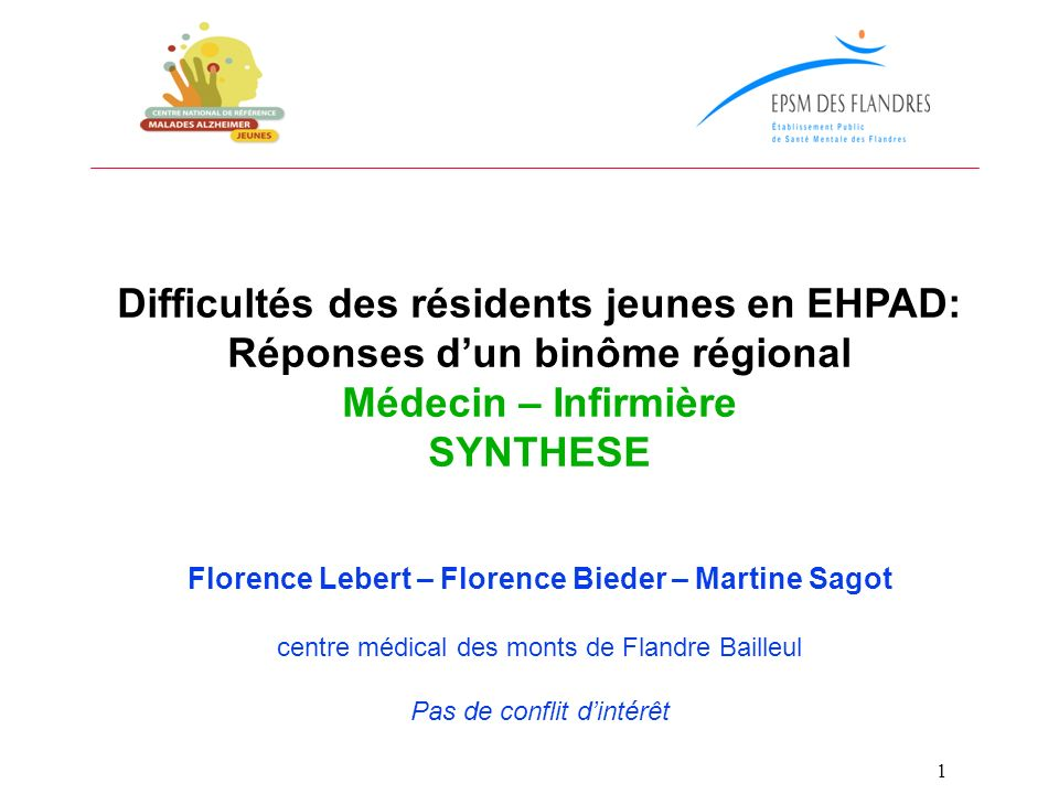Difficultés des résidents jeunes en EHPAD: