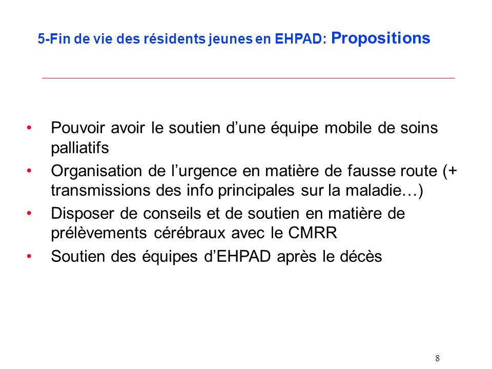 5-Fin de vie des résidents jeunes en EHPAD: Propositions