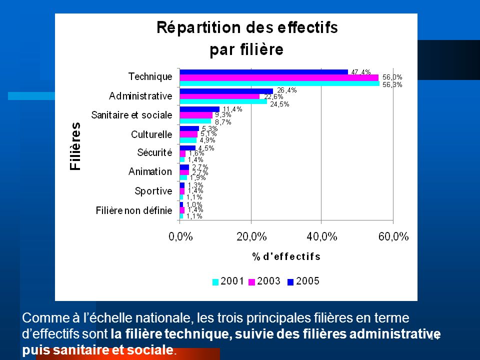 REPARTITION DES EFFECTIFS PAR FILIERE :