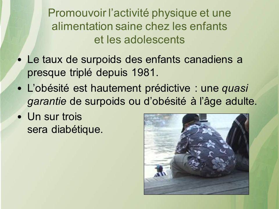 Promouvoir l'activité physique et une alimentation saine chez les enfants et les adolescents