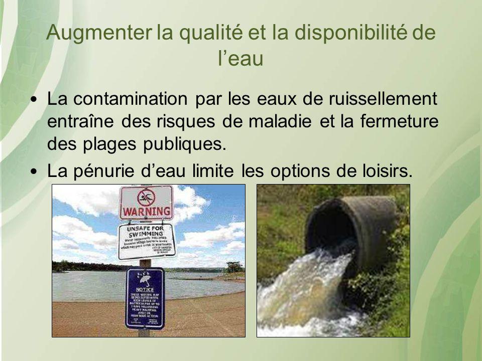 Augmenter la qualité et la disponibilité de l'eau