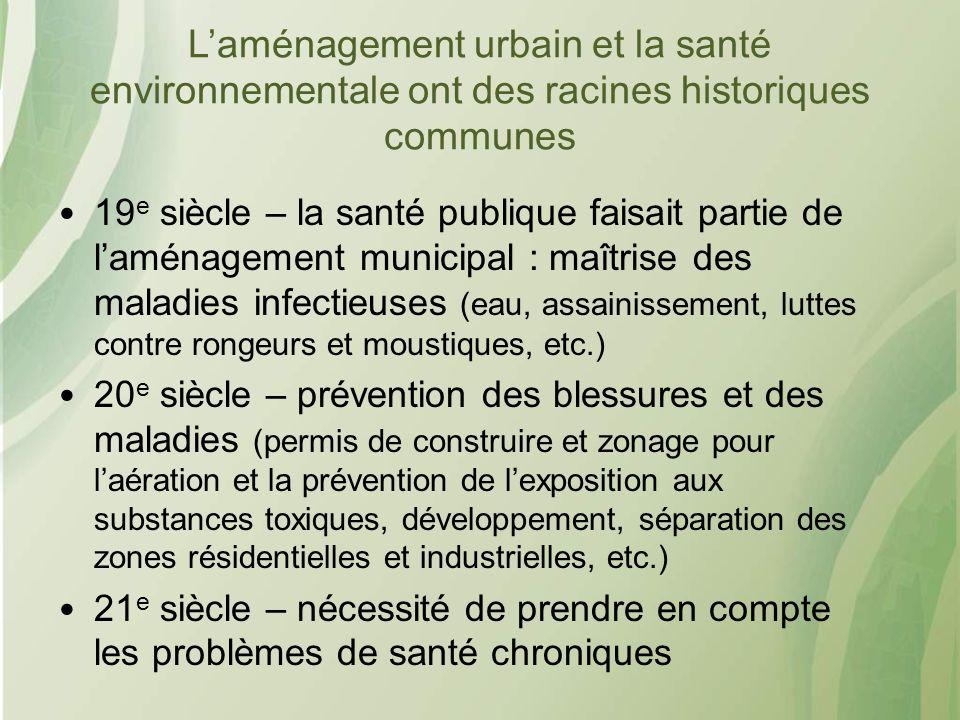 L'aménagement urbain et la santé environnementale ont des racines historiques communes