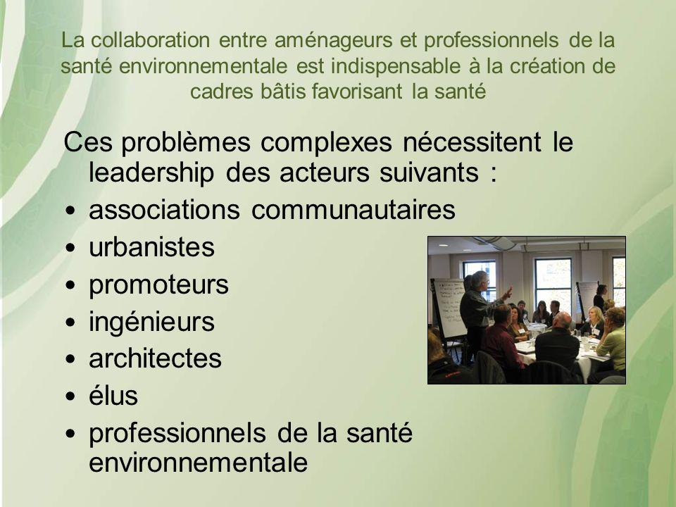 associations communautaires urbanistes promoteurs ingénieurs
